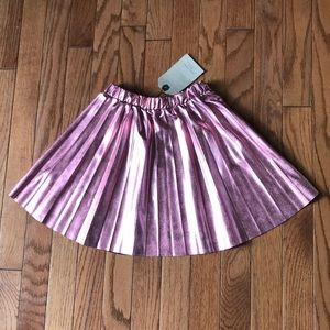 🔥Zara Girls metallic pink pleated skirt size 5/6